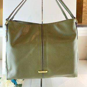 Anne Klein Olive Green Large Shoulder Bag 4 Point